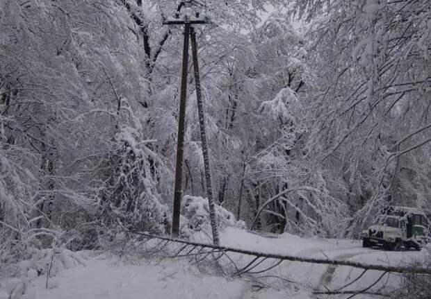 50 бригад энергетиков ликвидируют последствия нового снегопада в Сочи