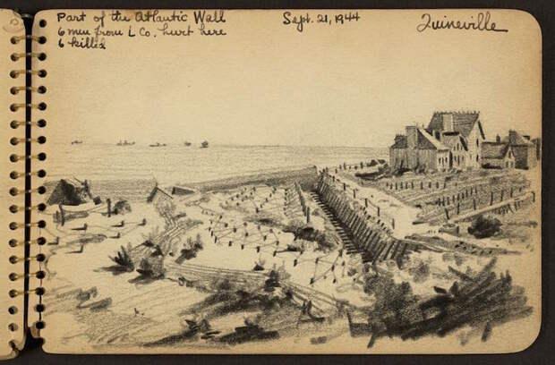 Дневники Второй мировой войны: зарисовки американского солдата Виктора Ланди