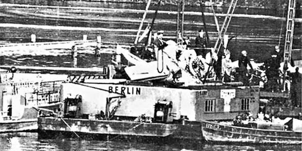 Подъём самолёта изозера Штёссензее