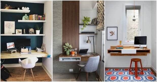 Компактные и стильные подвесные столы — идеальный выбор для домашнего офиса