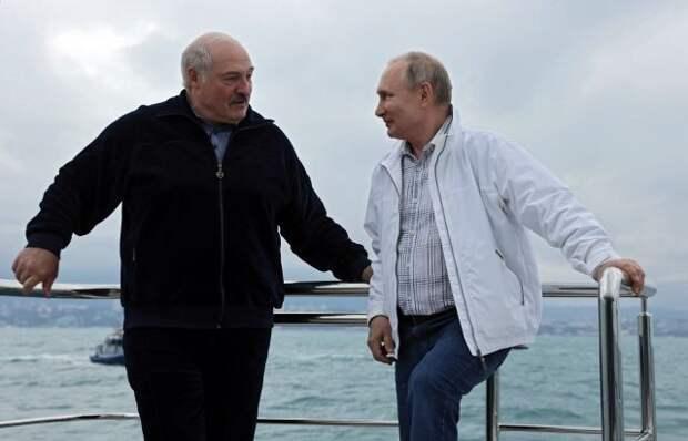 Путин не купался с Лукашенко в Черном море - СМИ
