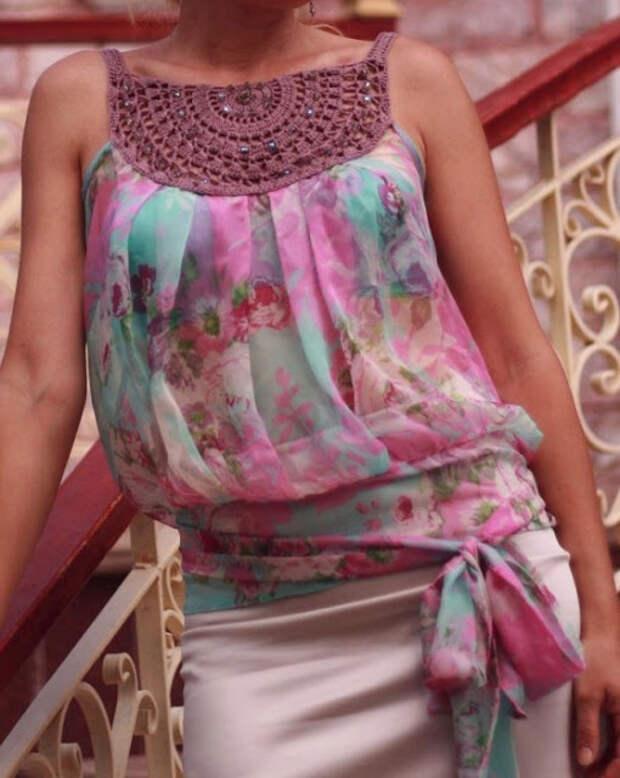 Ткань + Вязание. Идеи