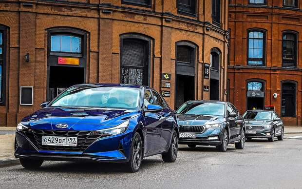 Hyundai Elantra, VW Jetta, Skoda Octavia — тест в цифрах
