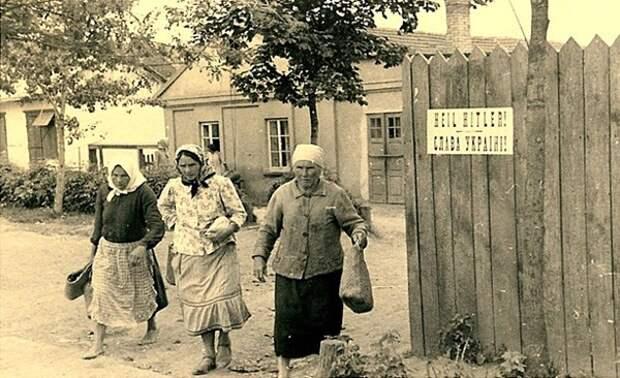 Встреча советских летчиков с бандеровцами