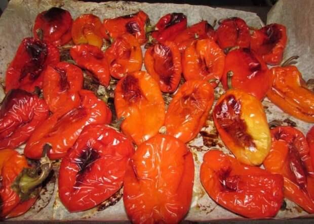 Печёный перец в духовке на зиму. Очень вкусная заготовка 2