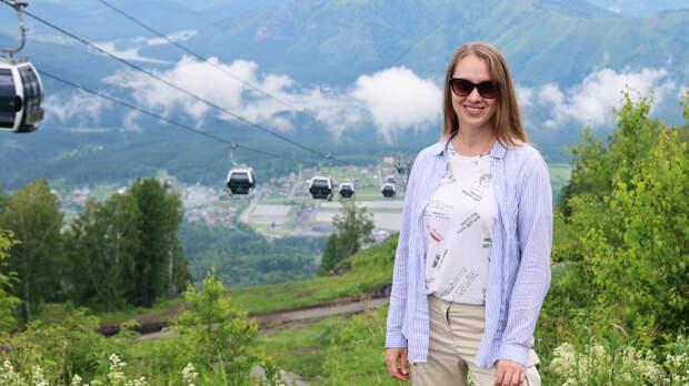 Алтай. Манжерок - горнолыжный курорт. Канатная дорога, достопримечательности