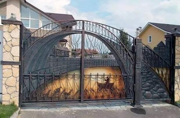 Вот это ворота.Мастер заслуживает восхищения!