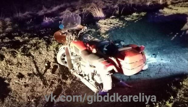 Мотоциклист разбился насмерть в Карелии