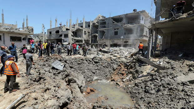 Разрушенные в результате израильских авиационных и артиллерийских ударов дома в северной части сектора Газа - РИА Новости, 1920, 16.05.2021