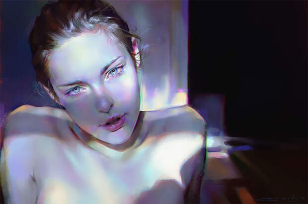 Нежные портреты от мастера цифровой живописи Яньцзюнь Чэн
