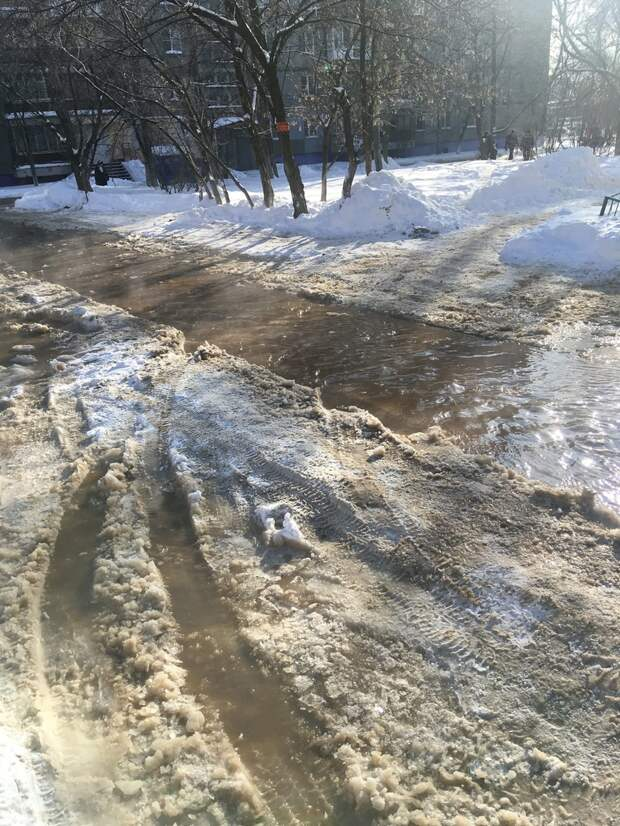 Улицу Сергея Акимова в Нижнем Новгороде затопило из-за утечки: воду с проезжей части уже откачали