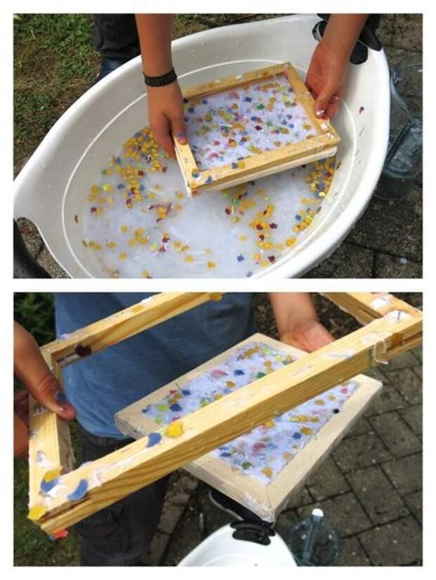 Бумага с цветами своими руками
