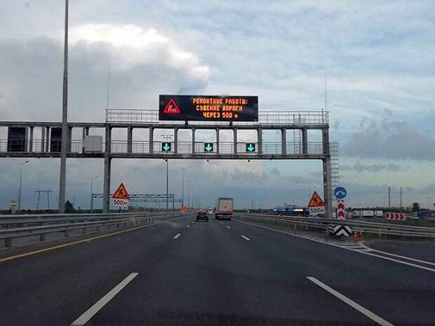 В Петербурге две ночи подряд будут перекрывать КАД между Мурманским и Колтушским шоссе