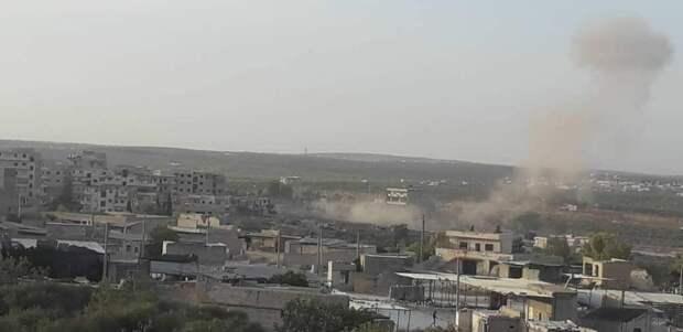 В сети появилось видео артиллерийских ударов протурецких боевиков по Айн-Иссе в Сирии