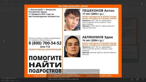 В Крыму разыскивают без вести пропавшего 16-летнего подростка
