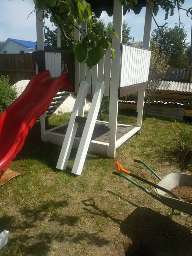 Как мы строили песочницу для сына или 2 лета на даче с семьей