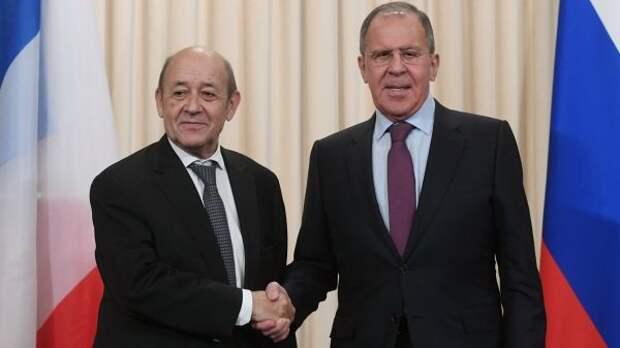 Глава МИД Франции намерен обсудить сЛавровым Украину иАфганистан