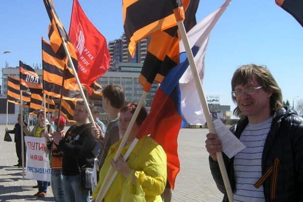В Белоруссии запретили Георгиевский флаг и российское движение НОД