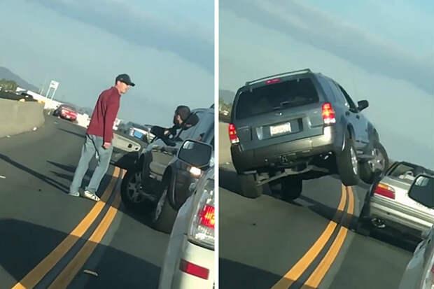 Мгновенная карма: хам на дороге получил урок по собственной глупости