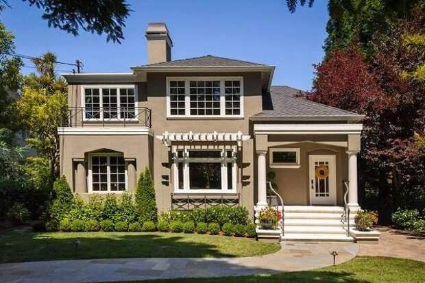 Серо-коричневый цвет дома на фото 2016
