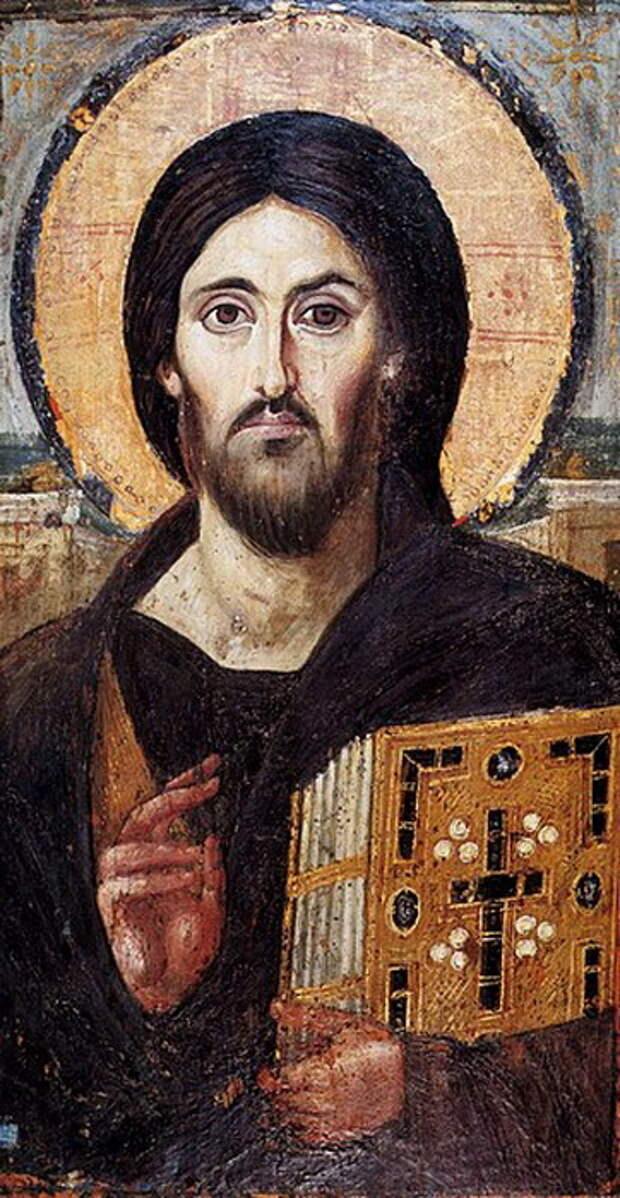 Христос Пантократор. Икона VI века