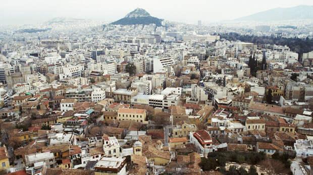 В Афинах прошла акция в поддержку Палестины и против учений НАТО