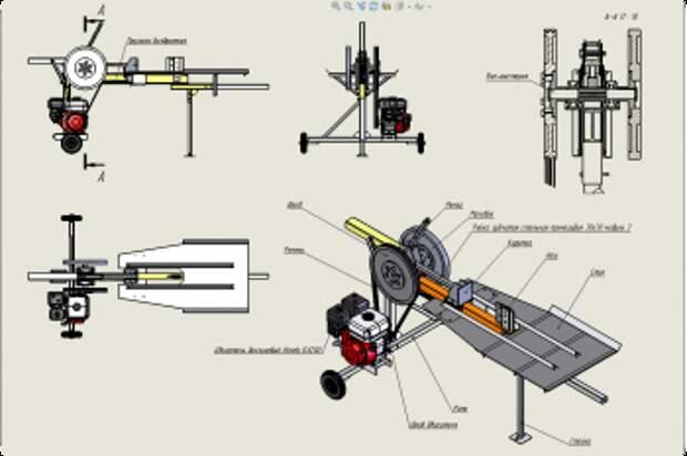 Как сделать самодельный механический дровокол своими руками