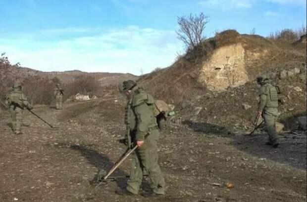Российские миротворцы в НКР очистили от взрывоопасных предметов более 200 гектаров
