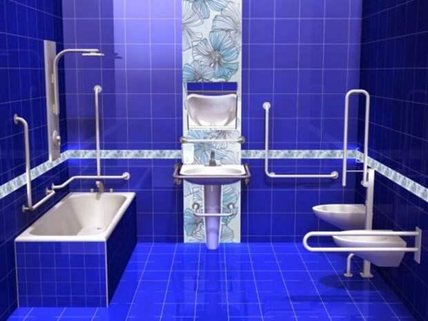 Поручень вдоль ванны. Источник фото: http://sovety-vannoy.ru