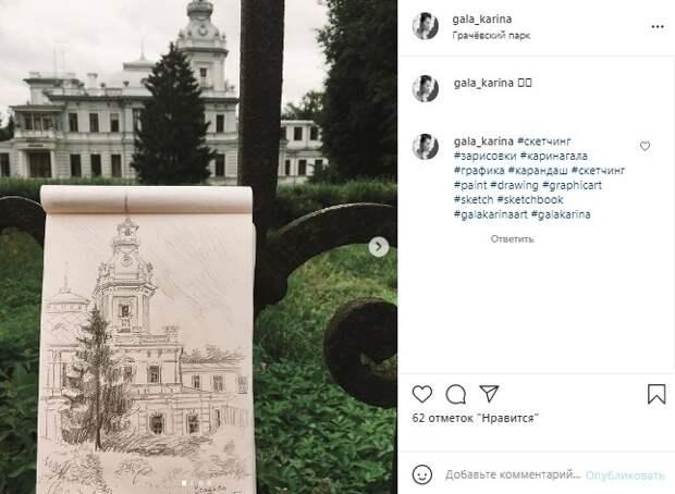 Фото дня: член союза художников нарисовала Грачёвку карандашом