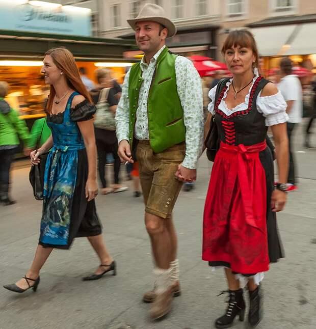 Тирольцы даже в повседневной жизни могут носить национальную одежду