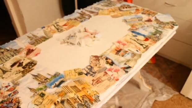 Из старого письменного стола мастерица сделала произведение искусства
