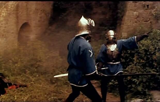 Леонид Кулагин в образе честного малого и храброго солдата Людовика Лесли по прозвищу «Меченый».
