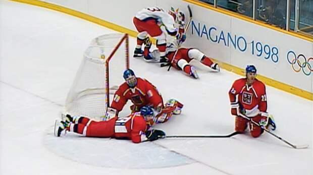 2 гола за10 секунд— уникальное достижение сборной России. НаОлимпиаде-1998 наши разобрались свеликим Гашеком