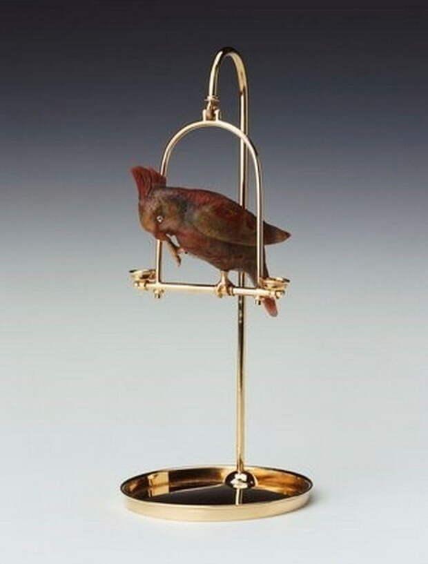 Камнерезные фигурки птиц фирмы Фаберже из королевской коллекции, фото № 7