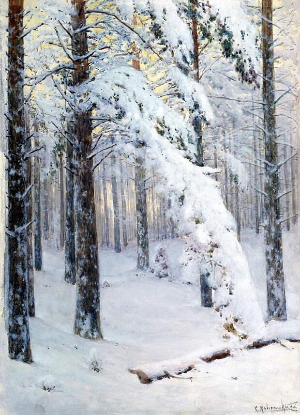 КРЫЖИЦКИЙ Константин - Лес зимой.jpg