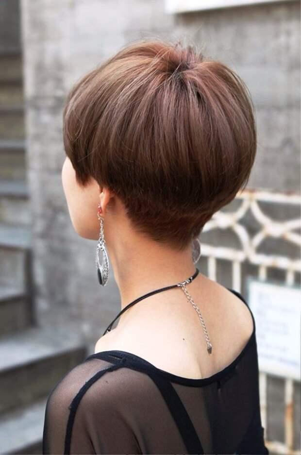стрижка паж на коротких волосах