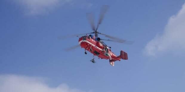 Вертолеты МАЦ начнут мониторинг пожароопасной обстановки в Москве с 1 мая.Фото: Е. Самарин mos.ru