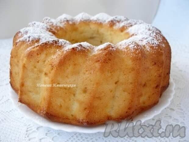 Творожный кекс с персиком
