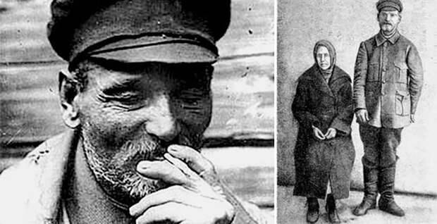 Василий Комаров и его жена. Фото перед расстрелом