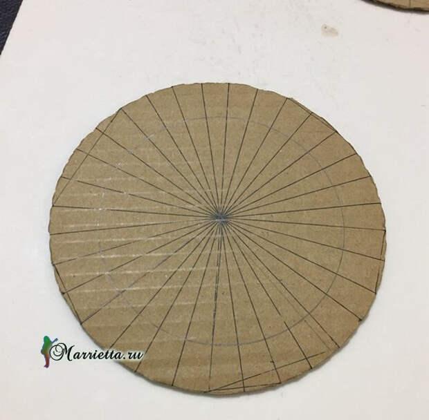 Светильник своими руками - из картона и шашлычных палочек (5) (590x579, 155Kb)