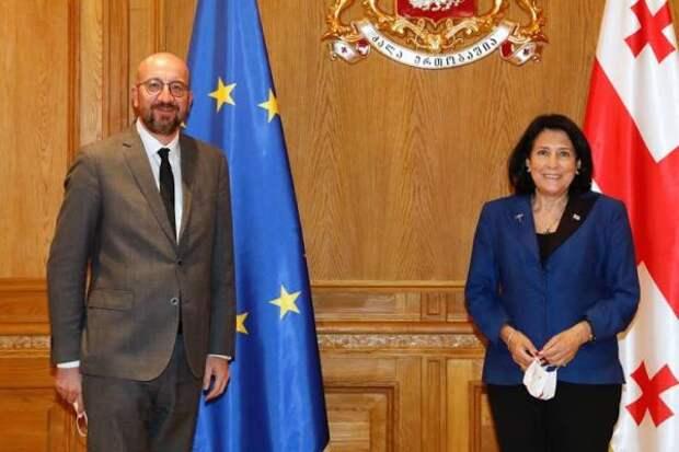 Президент Грузии поблагодрила президента Евросовета за«день победы»