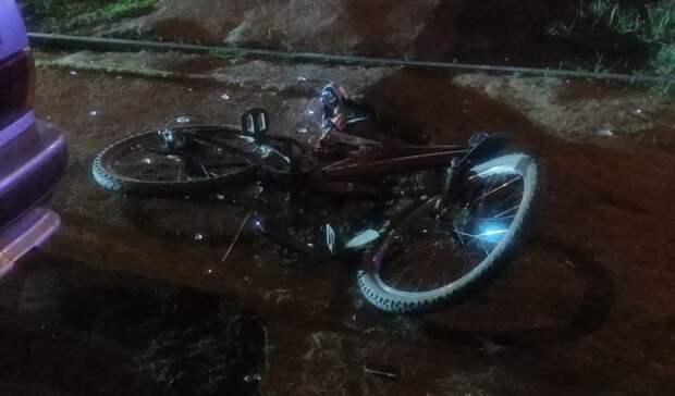 В Ижевске пьяный водитель сбил велосипедиста на пешеходной дорожке