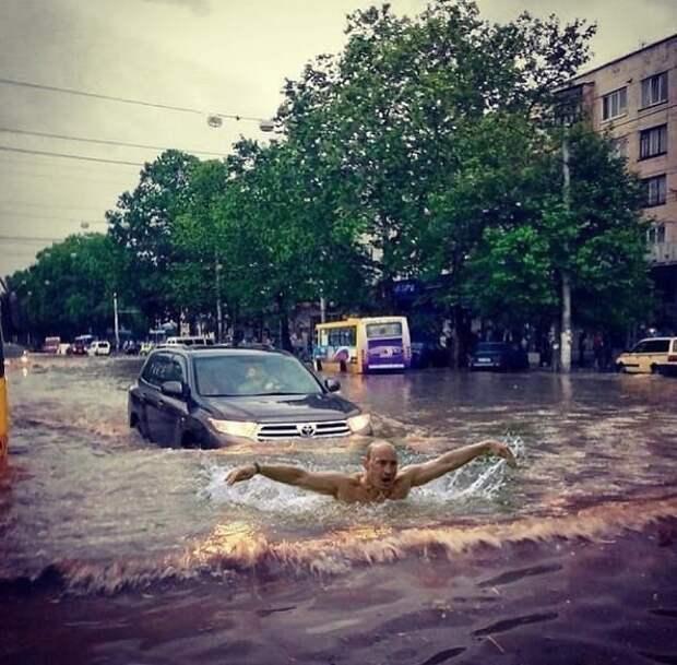 Симферополь «поплыл» после грозы: опубликованы последствия