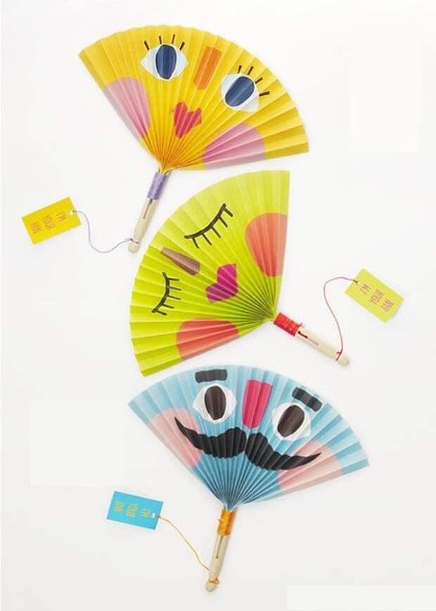 Идеи для творчества с детьми - поделки из бумажных гармошек