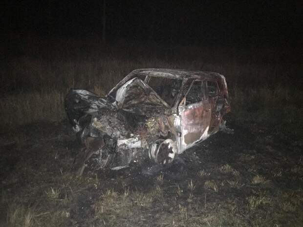 Столкнулись и загорелись: житель Удмуртии пострадал в серьезном ДТП в Пермском крае