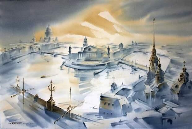 художник Константин Кузема акварель картины - 23