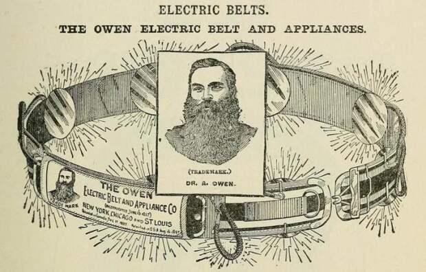 Электропатический вибрационный пояс, который якобы лечил импотенцию.