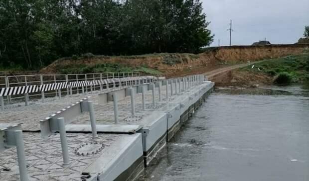 Возле Соль-Илецка возвели новый понтонный мост