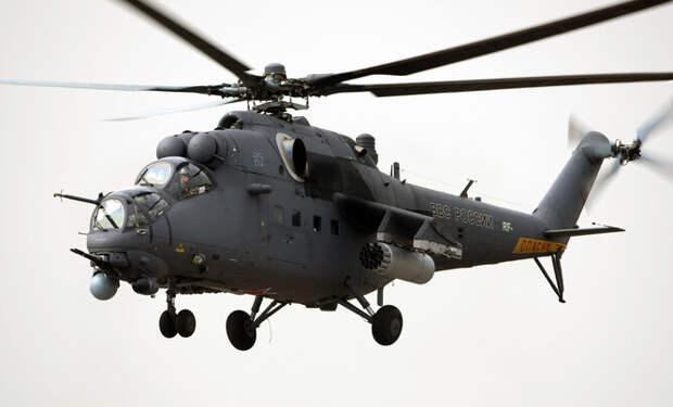 Российскому многоцелевому ударному вертолету Mи-35M по плечу скорость 320 км/час. Он может нести боевую службу в различных погодных условиях, круглые сутки.